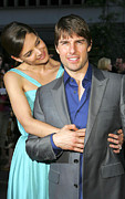 Katie Holmes Framed Prints - Katie Holmes, Tom Cruise At Arrivals Framed Print by Everett