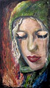 Contemplative Paintings - Katie by Molly Markow