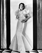 Ruffled Dress Prints - Kay Francis, Circa 1930s Print by Everett