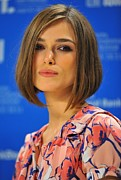 2010s Hairstyles Posters - Keira Knightley At The Press Conference Poster by Everett