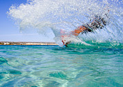 Surfboard Art - Kitesurfing by Stylianos Kleanthous