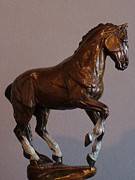 Horse Sculpture Prints - La Luz Print by Peggy Detmers