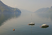 Haze Framed Prints - Lago di Lugano Framed Print by Joana Kruse
