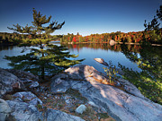 Killarney Provincial Park Prints - Lake George at Killarney Provincial Park in Fall Print by Oleksiy Maksymenko