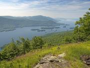 Mountain View Photos - Lake George from the Tongue Mountain Range New York  by Brendan Reals