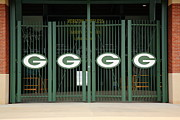 Packers Posters - Lambeau Field - Green Bay Packers Poster by Frank Romeo