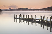 Coniston Art - Landing Jetty On Conniston Water, Lake District by Travelpix Ltd