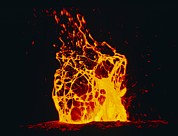 Hawai Prints - Lava Flow From Kilauea Volcano Print by G. Brad Lewis