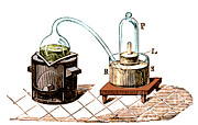 Featured Framed Prints - Lavoisiers Apparatus To Study Air Framed Print by Science Source