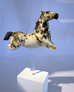 Equine Sculpture Sculptures - Leap by Anna Garberg