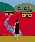 Buy Tshirts Paintings - Leaving by Patrick J Murphy