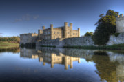 Leeds Posters - Leeds Castle Reflections Poster by Chris Thaxter