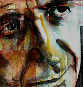 Leonard Cohen Paintings - Leonard  by Paul Lovering