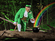 Cauldron Posters - Leprechaun with Pot of Gold Poster by Oleksiy Maksymenko