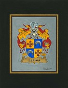 Coat Of Arms Paintings - Lerma Coat of Arms by Herb Strobino