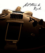 Guitar Prints - Let there be rock Print by Christopher Gaston