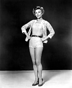 1950s Portraits Framed Prints - Lets Be Happy, Vera-ellen, 1957 Framed Print by Everett
