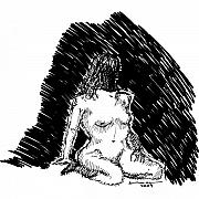 Nude Women Art - Life Drawing by Karl Addison