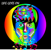 Yoko Digital Art Posters - Life Goes On Poster by Kevin Nodland