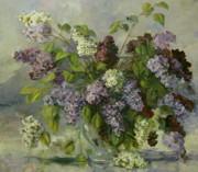 Romantic Paintings - Lilacs by Tigran Ghulyan