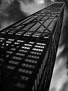 Chicago Black White Metal Prints - Limitless Metal Print by Dana DiPasquale