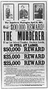 Reward Posters - Lincoln Assassination Poster by Granger