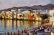 Islands Art - Little Venice in Mykonos island by George Atsametakis