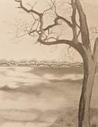 Raven Drawings Originals - Loch Raven  by Jodi Harvey-Brown