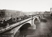 Streetlight Photos - LONDON BRIDGE, c1900 by Granger
