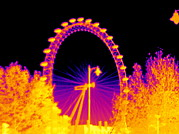 Efficiency Posters - London Eye, Thermogram Poster by Tony Mcconnell