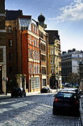Cobblestone Framed Prints - London street Framed Print by Elena Elisseeva
