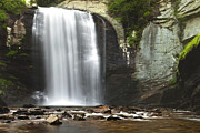 Looking Metal Prints - Looking Glass Falls Metal Print by Andrew Soundarajan