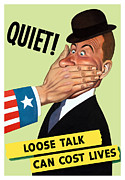 Ww11 Framed Prints - Loose Talk Can Cost Lives  Framed Print by War Is Hell Store