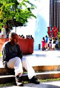 Love Park Photos - Love Park Man by Andrew Dinh
