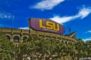 National Champions Prints - LSU Tiger Stadium Print by Scott Pellegrin