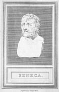 Statue Portrait Photo Prints - Lucius Annaeus Seneca Print by Granger