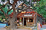 Luckenbach Framed Prints - Luckenbach Texas - No. 9363 Framed Print by Joe Finney