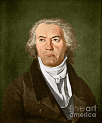 Music Time Posters - Ludwig Van Beethoven, German Composer Poster by Omikron