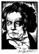 Pianist Framed Prints - LUDWIG van BEETHOVEN Framed Print by Granger