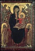 Byzantine Posters - Madonna And Child Poster by Granger