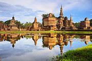 Lilly Originals - Main buddha Statue in Sukhothai historical park by Anek Suwannaphoom