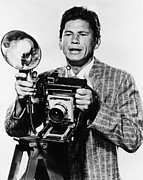 Bronson Framed Prints - Man With A Camera, Charles Bronson Framed Print by Everett