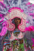 Jazz Fest Framed Prints - Mardi Gras Indians Framed Print by Terry Finegan