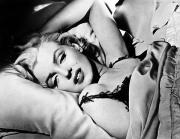 Pillow Photo Framed Prints - Marilyn Monroe (1926-1962) Framed Print by Granger