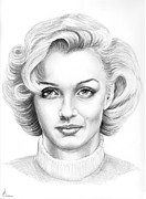 People Drawings Originals - Marilyn Monroe by Murphy Elliott