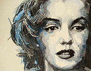 Actors Painting Prints - Marilyn Print by Paul Lovering