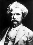Author Metal Prints - Mark Twain Metal Print by Everett