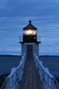 Lit Metal Prints - Marshall Point Light Metal Print by John Greim