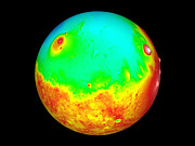 Planets Art - Martian Topography by Nasa