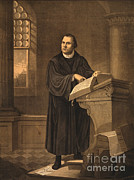 Bible Figure Art - Martin Luther, German Theologian by Photo Researchers